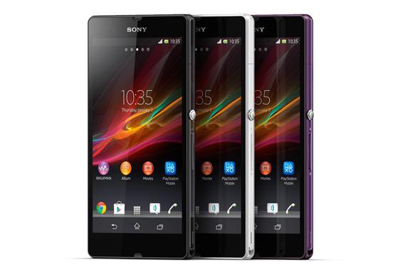 The Sony Xperia™ Z comes in three distinct colors.