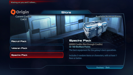 Mass Effect 3 microtransactions