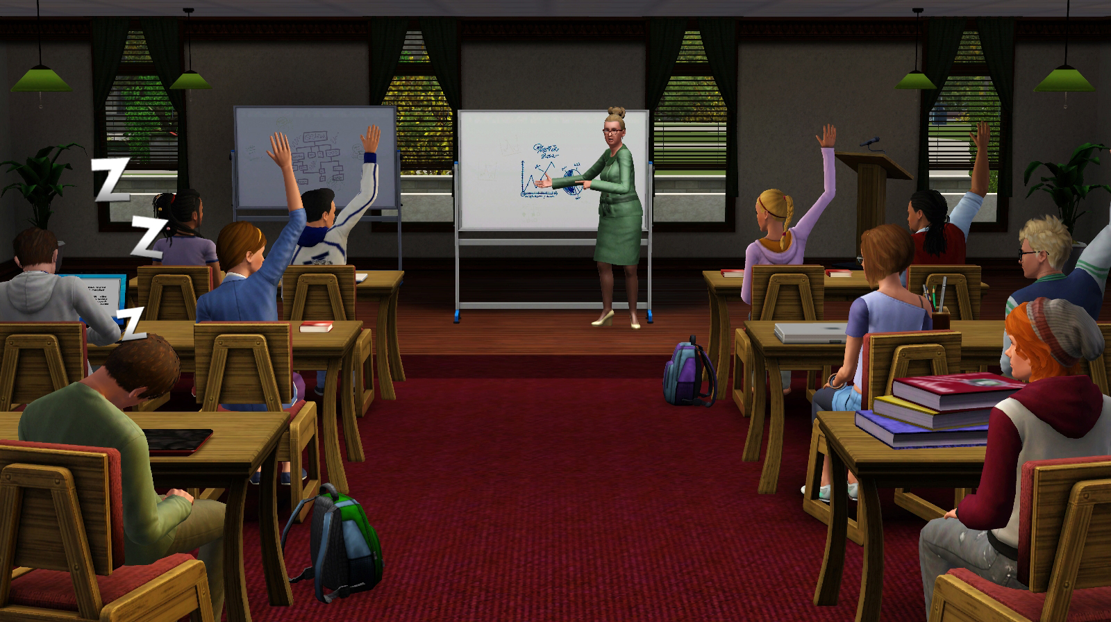 The sims 3 university life review college life as i for Au maison online shop