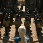 Game of Thrones Season 3 Unsullied in formation
