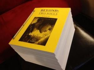 Beyond Two Souls 2,000 page script