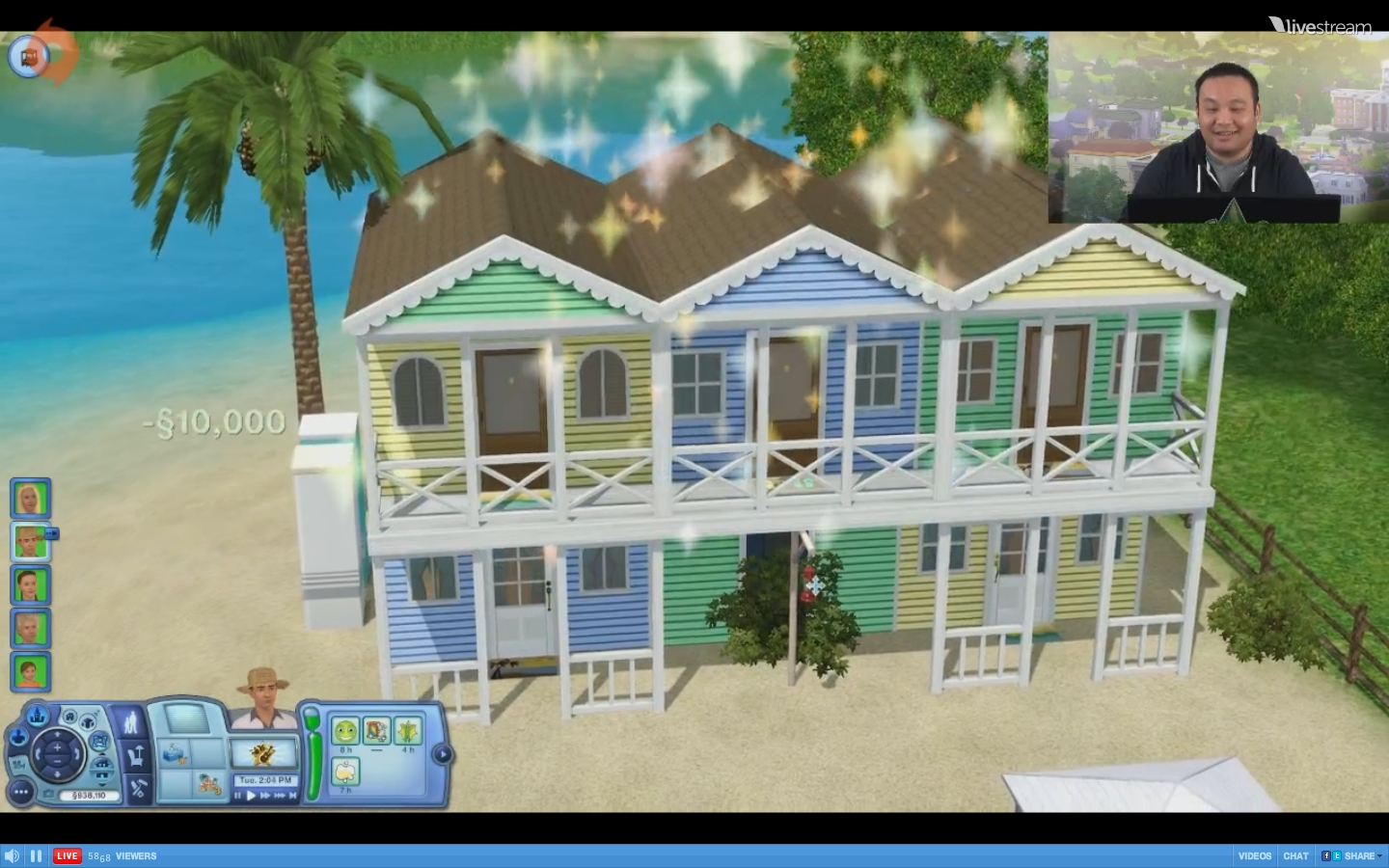 how to run a resort sims 3