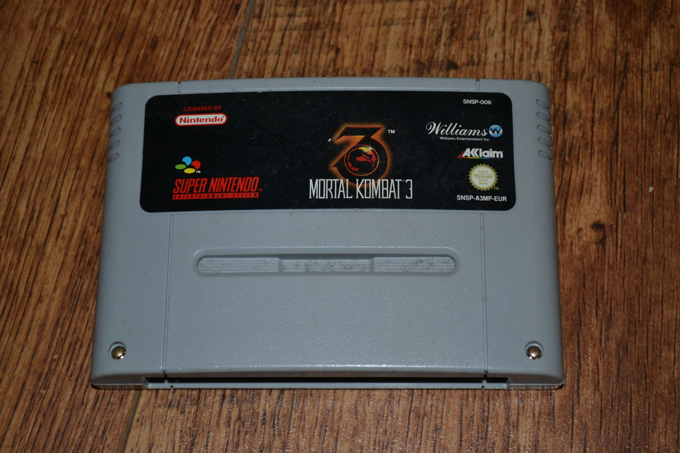 MK3 SNES Cartridge