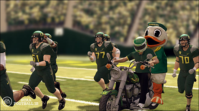 They'll let anybody on the field these days.  Is that a motorcycle?