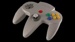 The N64 controller seen here essentially plays the same as the Wii controller, especially with the left hand control.