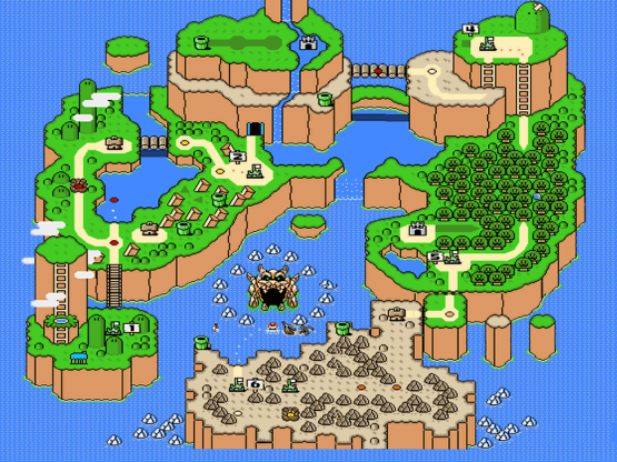 snes-super-mario-world-world map