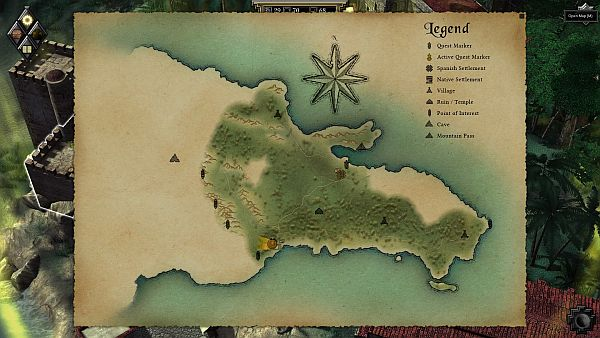 This is one of the two maps you'll fully explore.