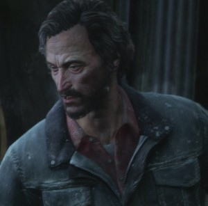 My favorite voice actor in The Last of Us was Nolan North as David.  A simply amazing performance.