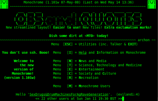 An example of a BBS system.