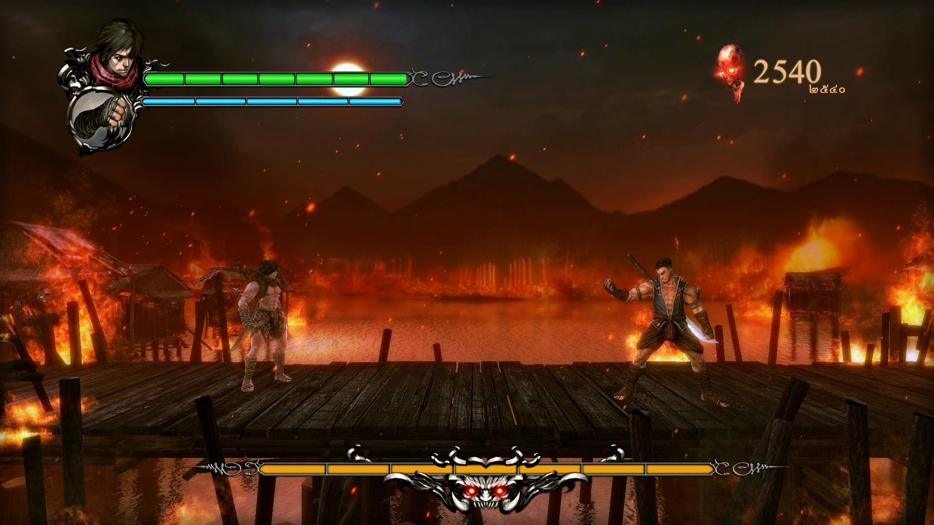 Martial arts boss fight with lava in the background? Say it isn't so.