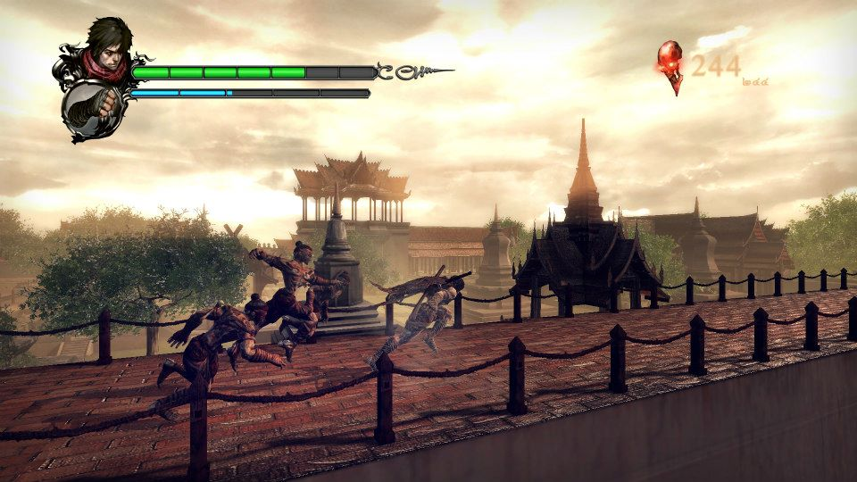 Fighting on narrow pathways is a staple of the side-scrolling brawler.