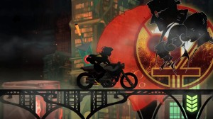 The demo ends with Red hopping onto a motorcycyle and riding back into the heart of the city to find out what's happening, much to the dismay of the sword.