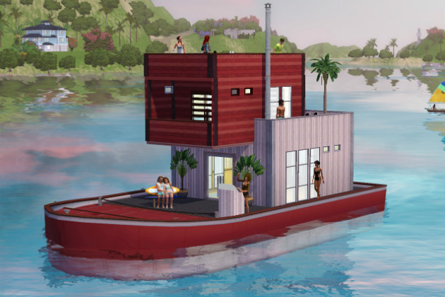 How to build a houseboat in sims 3 island paradise key