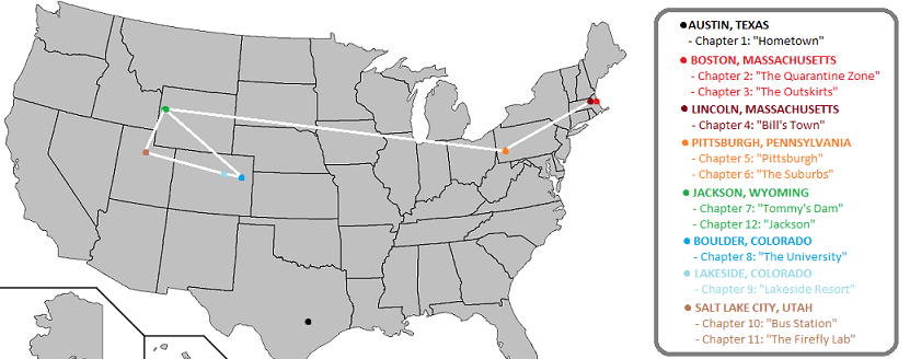 The Last Of Us Route Map