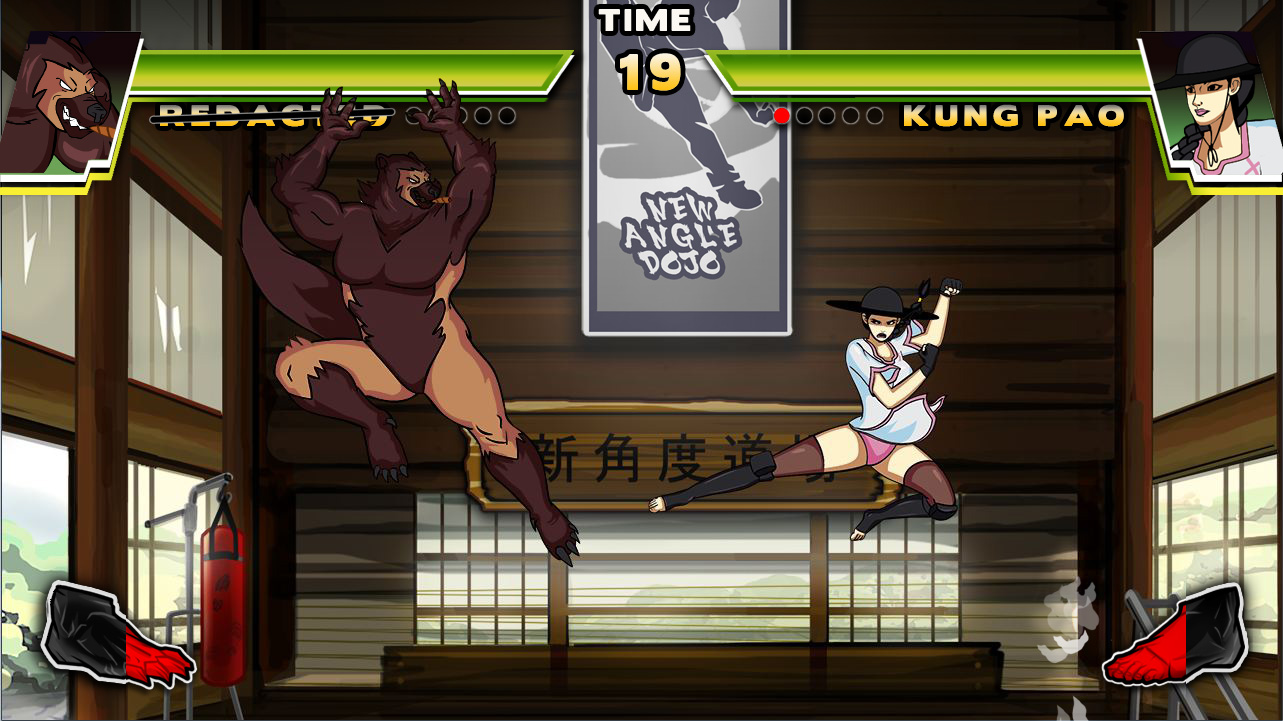 Many of the characters in the game are in-jokes within the fighting game community.
