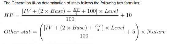 Pokémon Gen-III IV Equations