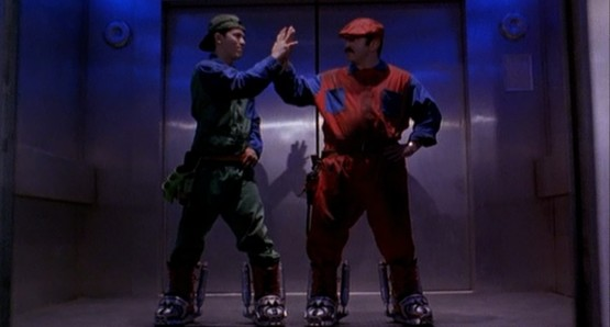 Bob Hoskins & Joe Leguizamo high five before committing human rights violations against cinema