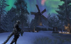 A shot of Skyrim from the game.