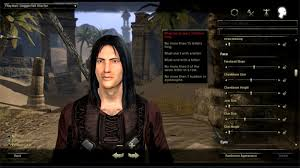 A glimpse at character creation in The Elder Scrolls Online