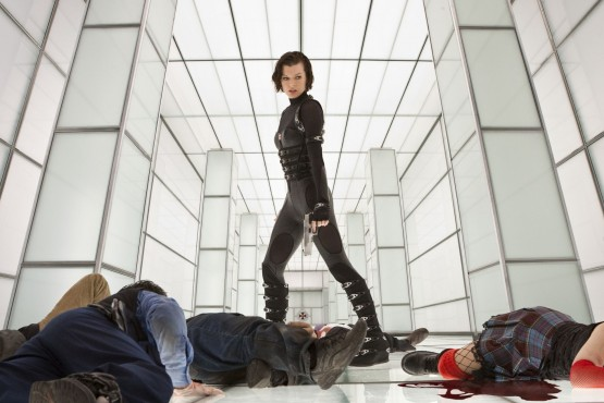 Milla Jovovich stands triumphant above the corpses of video game adaptations