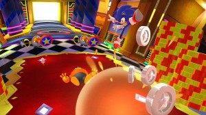 Sonic can now kick as well as homing attack his enemies from above.