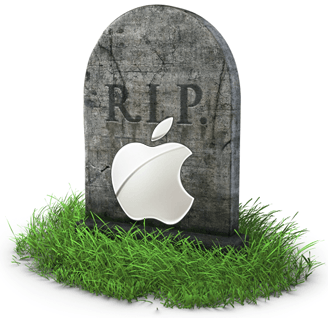 Apple tombstone