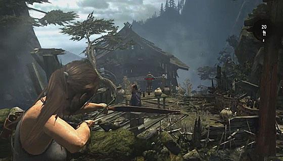 Tomb Raider bow aim