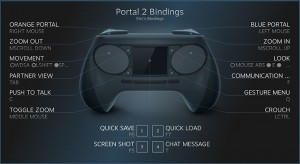 Here's an example of how someone might play Portal 2 with a Steam Controller.