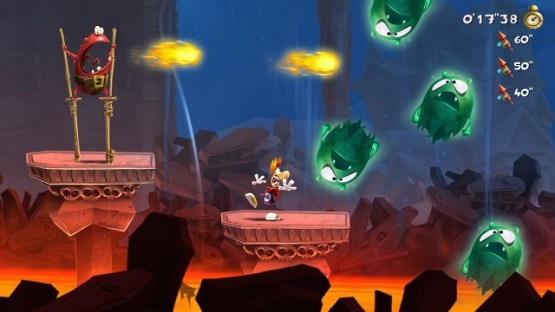 Rayman's face perfectly captures the feeling of going up against an Invasion level.