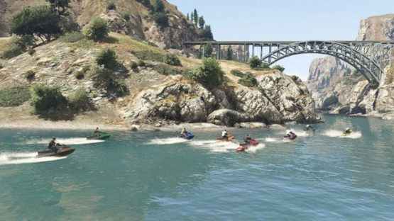 GTA Online sea race