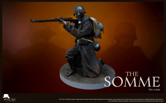 The Somme - gasmask marksman