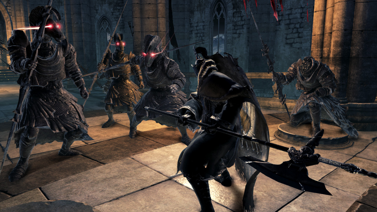 DarkSouls2BattleWithStatueKnights