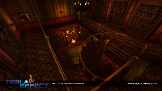"An intriguing in-game interior curiously labeled ""Swamp House""."