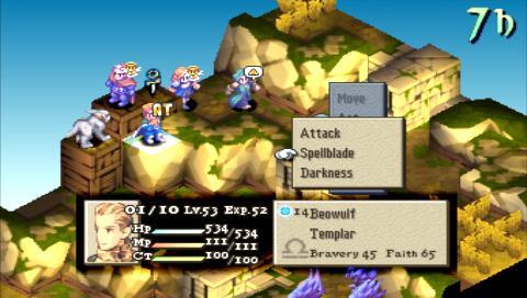 Final Fantasy Tactics battle
