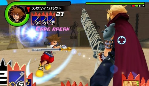Kingdom Hearts ReChain battle