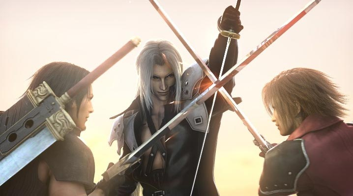 Sephiroth-Angeal-Genesis battle