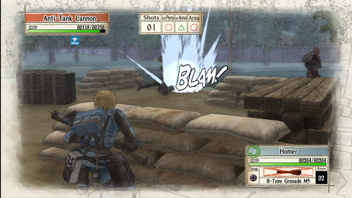 Valkyria Chronicles battle