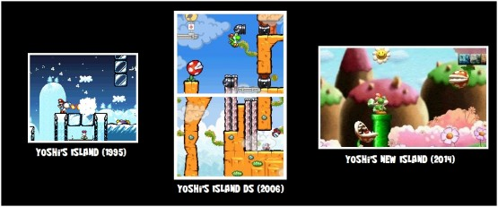 A look at the graphical styles of the Yoshi's Island series.