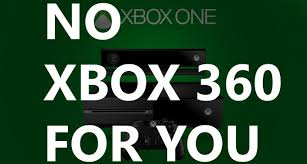 No Xbox 360 Backwards Compatibility