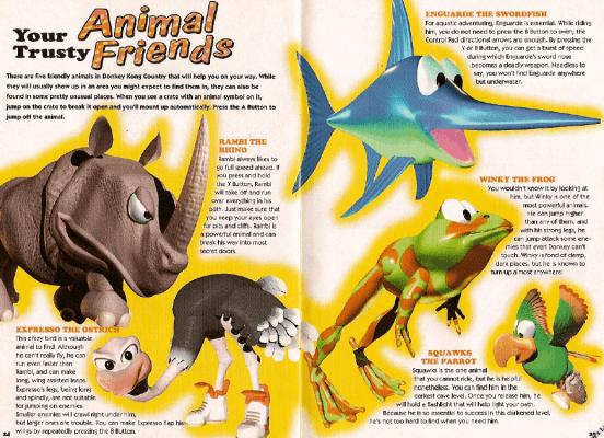 The original game's beloved animal buddies.