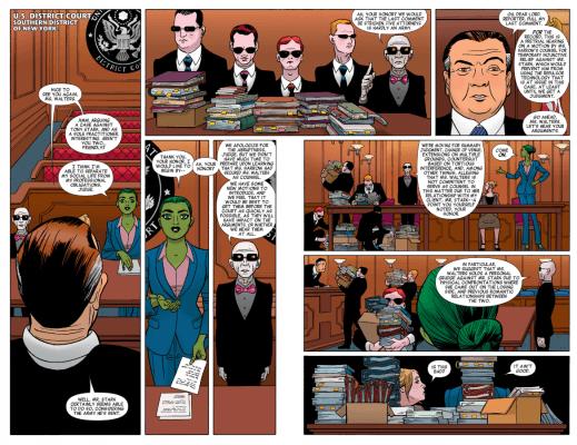 She-Hulk #1 Courtroom scene