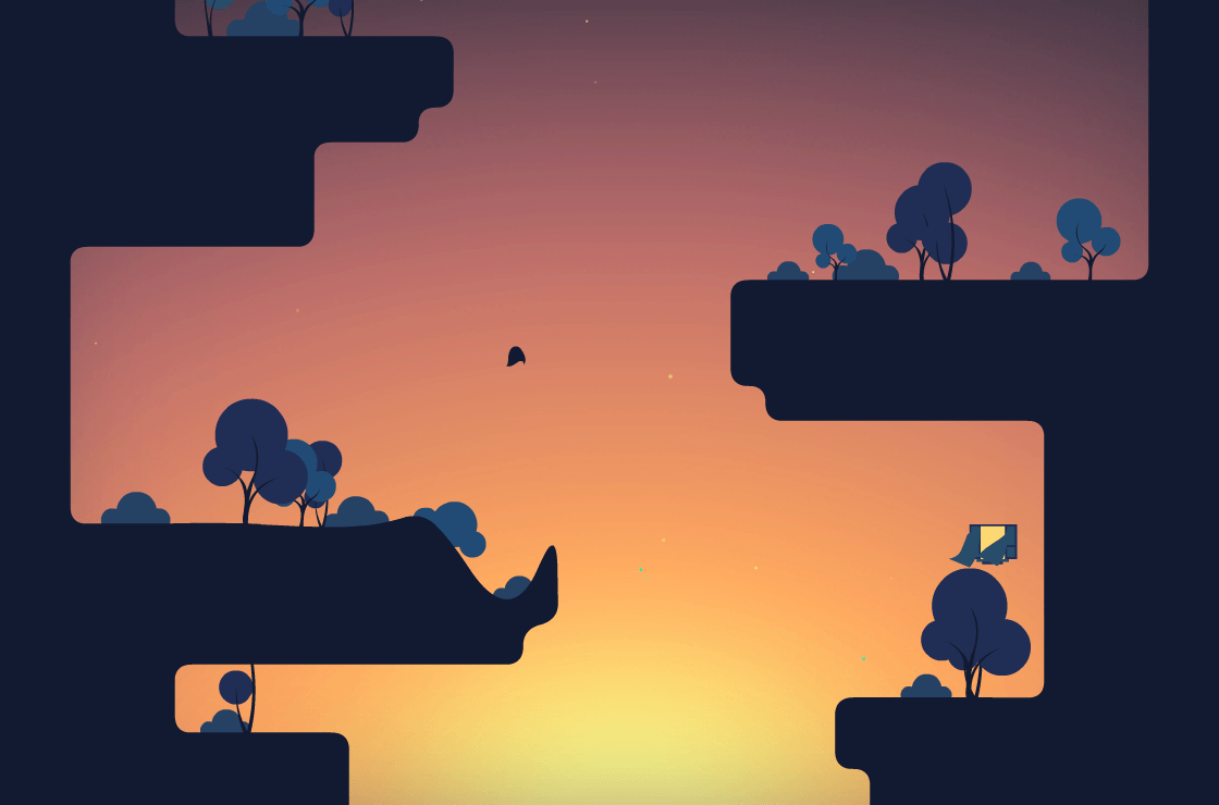 The Floor is Jelly is a pretty game that makes use of a simplistic art style.