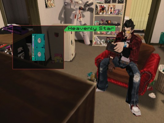 Travis Touchdown's motel room, which says as much about him as anything could.