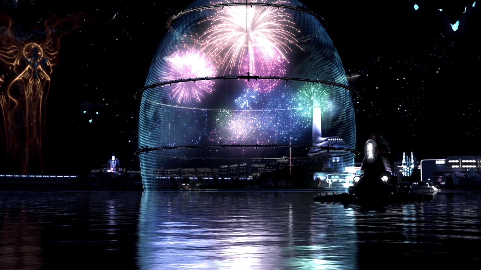 Final Fantasy XIII Bodhum fireworks