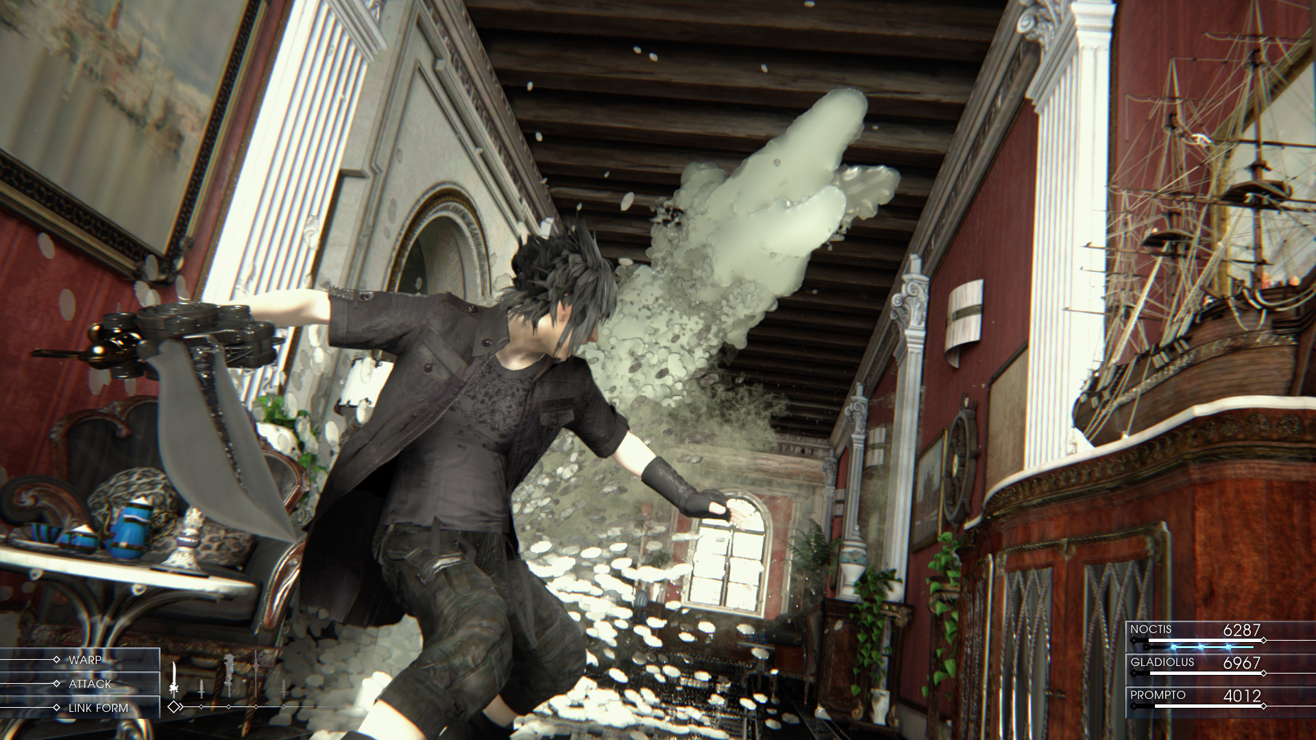 Final Fantasy XV explosion