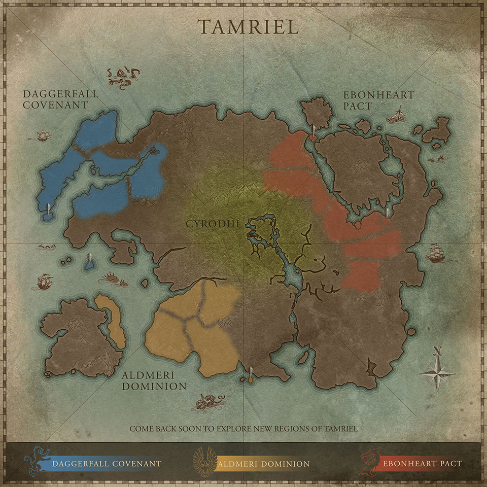 TESO faction map