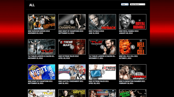 PPV Library on WWE Network