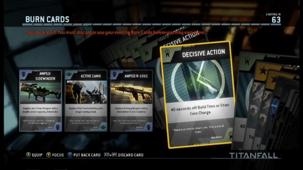 Titanfall Burn Cards