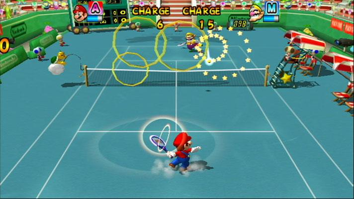 One of the many game modes of Mario Power Tennis.