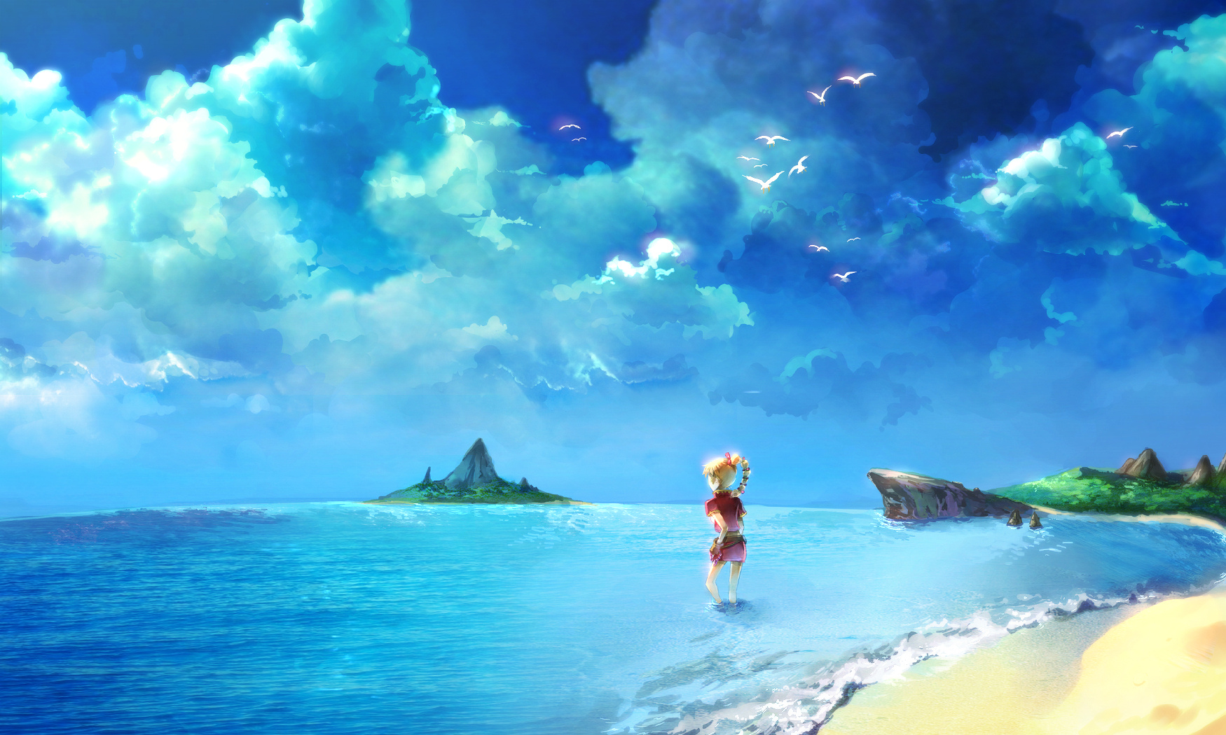 Chrono Cross Kid beach